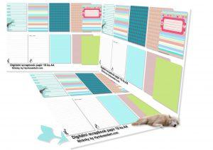 digitální scrapbook tvorba-papíry-deníky
