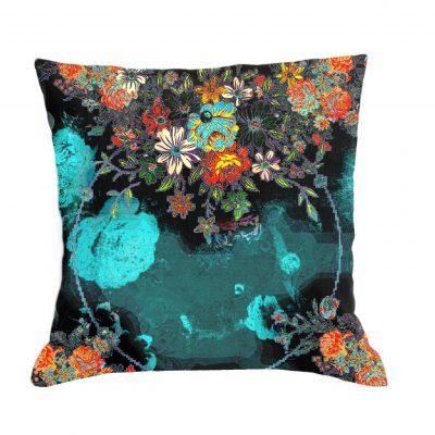 polštářek s potiskem-design polštářek-art-květiny-floral